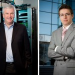 Two Dallas corporate portraits that are visually interesting with creative backgrounds