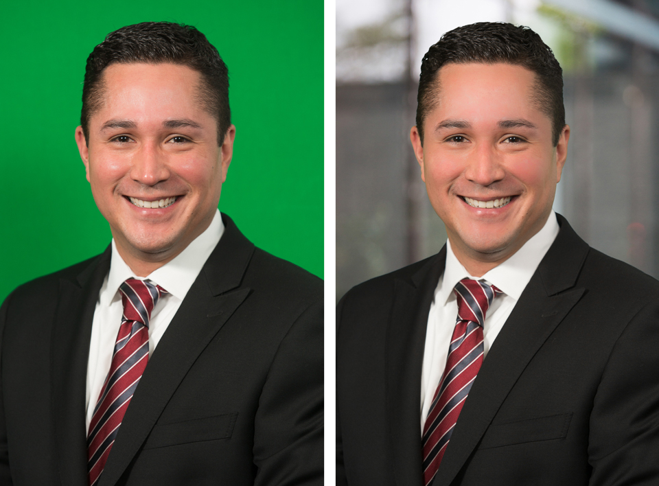a dallas green screen corporate portrait example