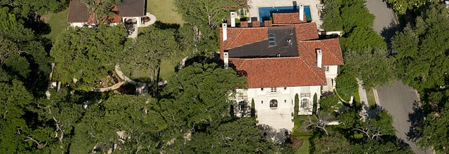 Troy Aikman's House aerial real estate photography