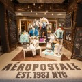 Interior photographs of a new Aeropostale store