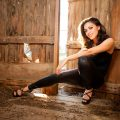 dtx commercial corporate fashion and glamour photography hot and sexy girl posing in barn